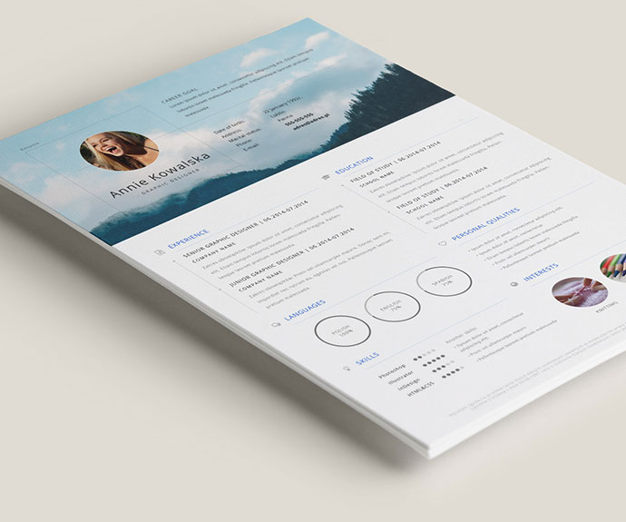 The  Best Resume Templates Of   Web  Graphic Design  Bashooka