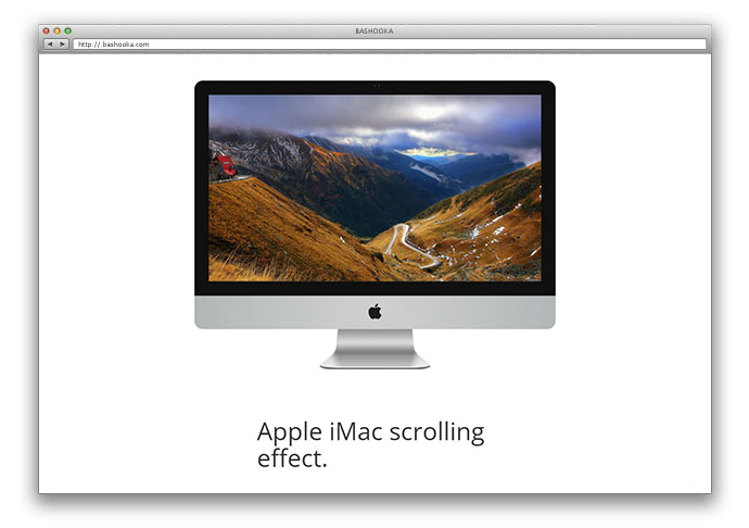 Apple`s iMac scrolling effect