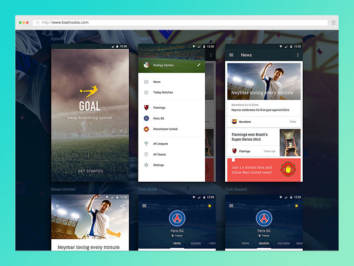 Goal Mobile UI Kit for Sketch
