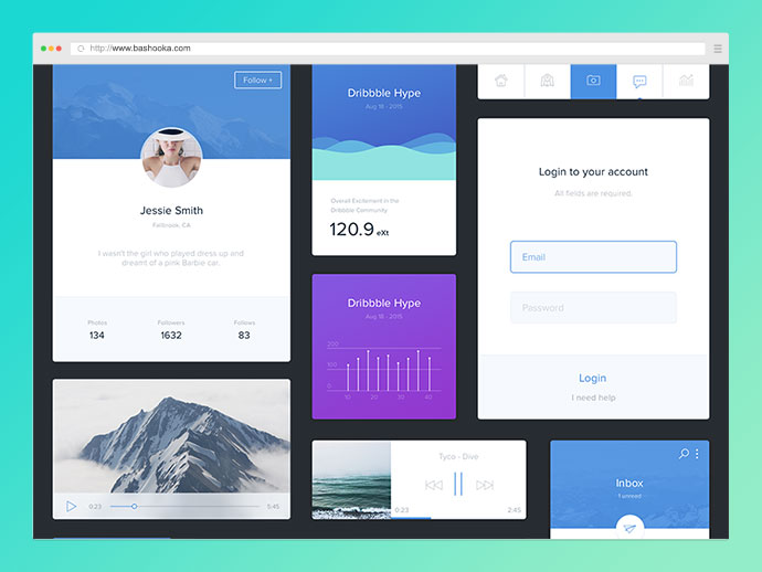 Freebie - UI Kit by Apostol Voicu