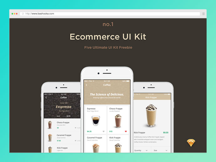 Ecommerce UI Kit - Freebie by Ena Bacanovic