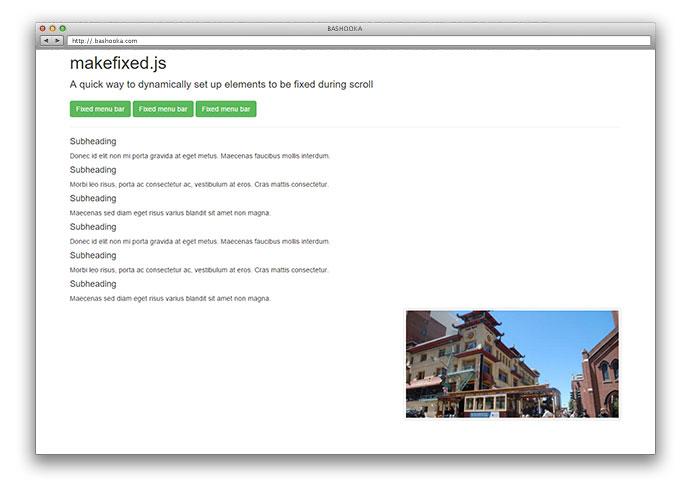 25 jQuery Sticky HTML Element Plugins – Bashooka