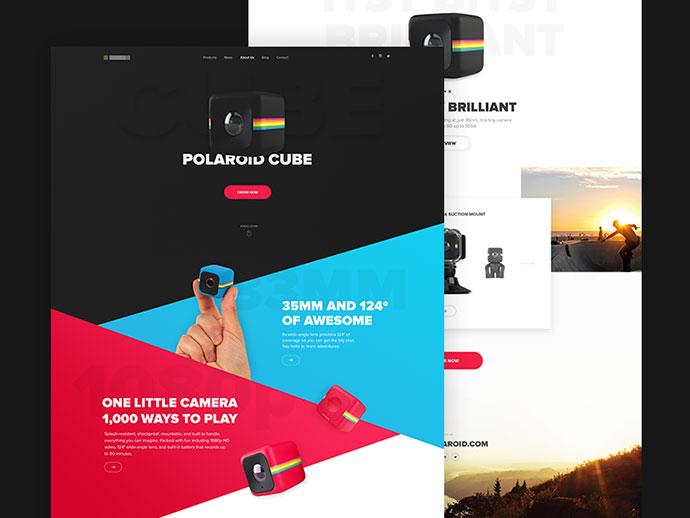 Polaroid Cube  Landing Page by Martin Strba