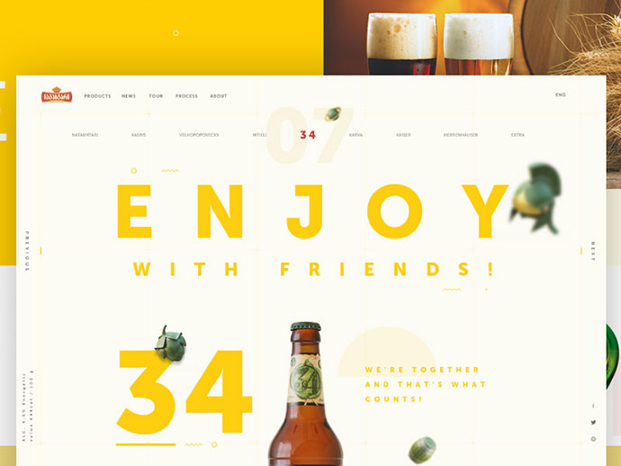 Beer Product page by Nick Buturishvili