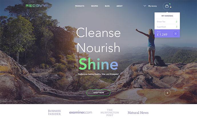 homepage for a vegeterians by Andrej Krajcir