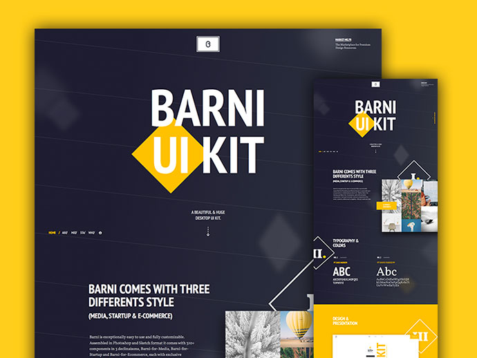 Barni UI Kit - Case Studies by Barthelemy Chalvet