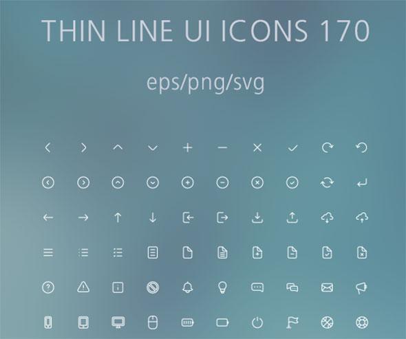 Thin Line UI Icons 170