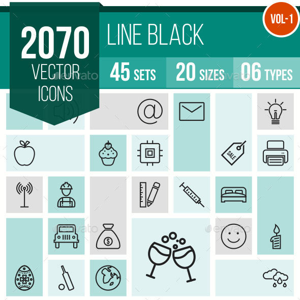 2070 Vector Line Icons