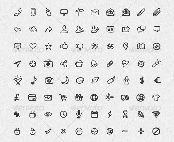 200 Hand Drawn Icons