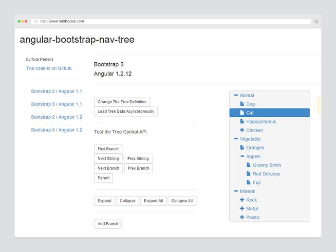 Bootstrap nav tree