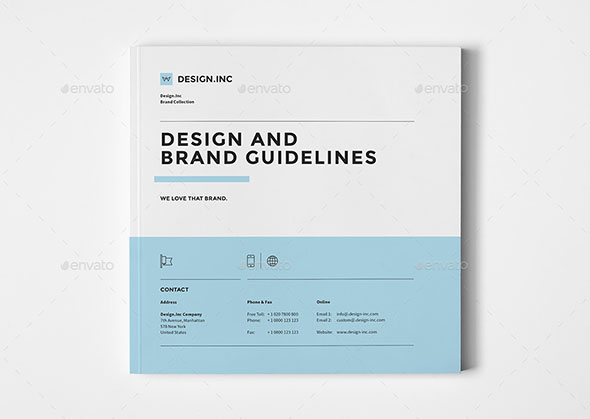 25 Best Brand Guideline Design Templates – Manual Design Templates