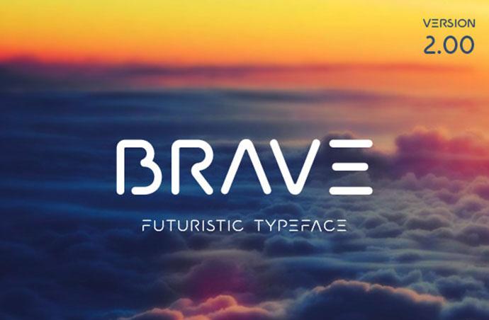 A minimal futuristic typeface