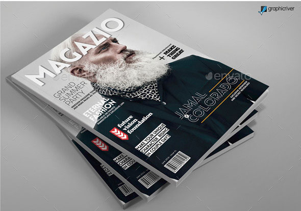 A4 Letter Magazine Template