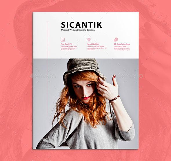 Sicantik Minimal Woman Magazine Template
