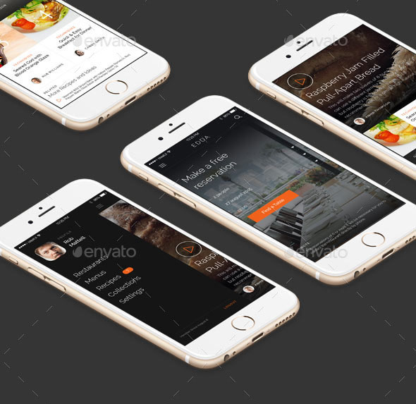 EDDA - Restaurant Mobile UI Kit