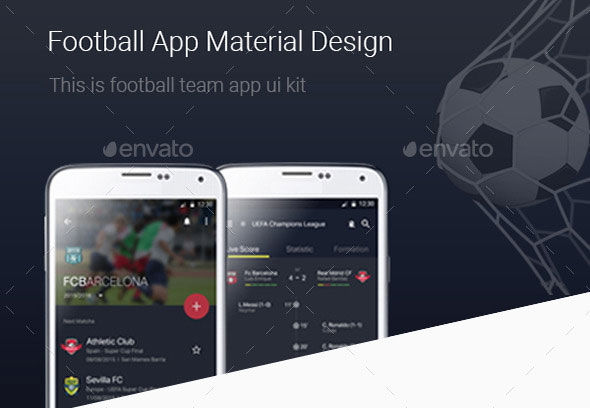 Football App Ui Kit Material Design