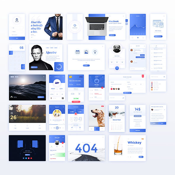 30 UI Elements Free PSD