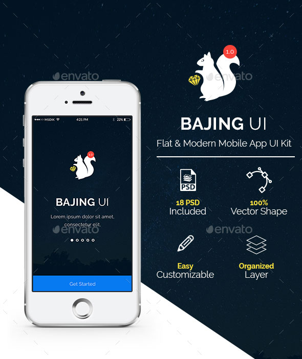 Bajing UI - Mobile App UI Kit