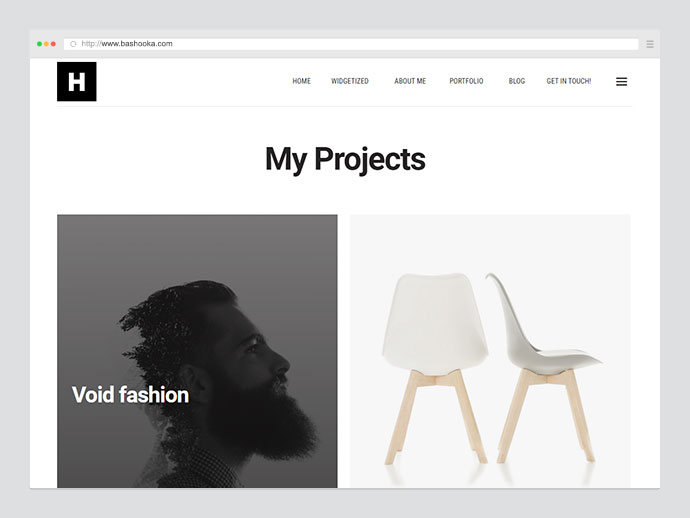 Higgs A Minimal WordPress Portfolio & Blog Theme