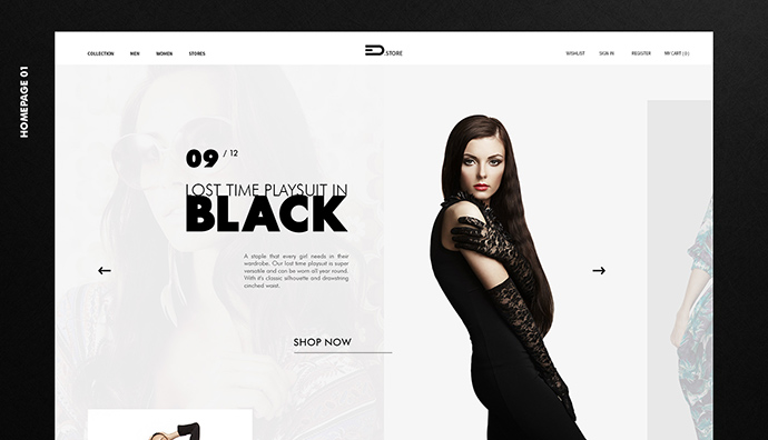 EDStore - Fashion Store (Free PSD)