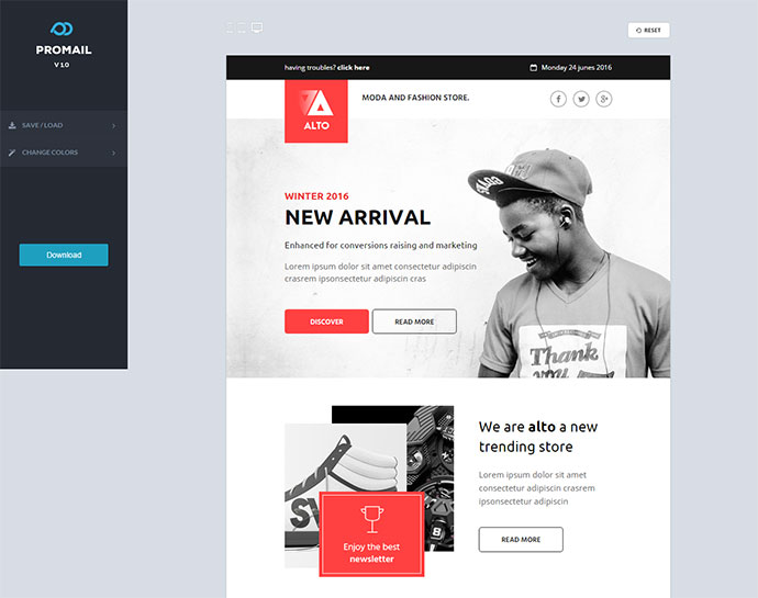 20 Best Responsive E Commerce Email Templates Web Graphic Design