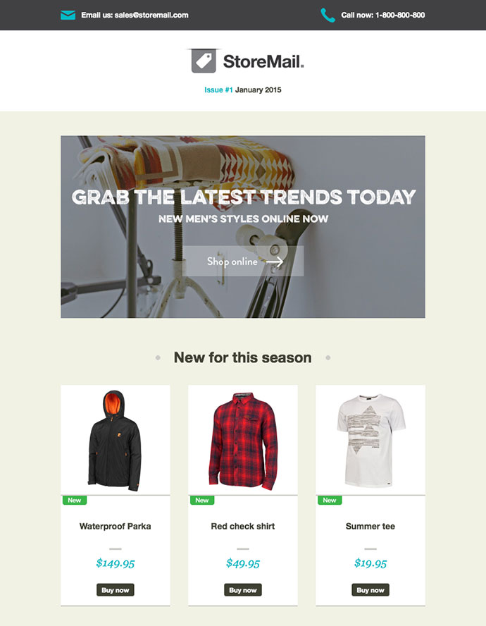 20 Best Responsive E-Commerce Email Templates | Web & Graphic ...