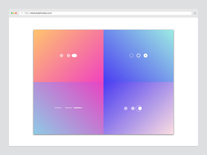 Page control animations