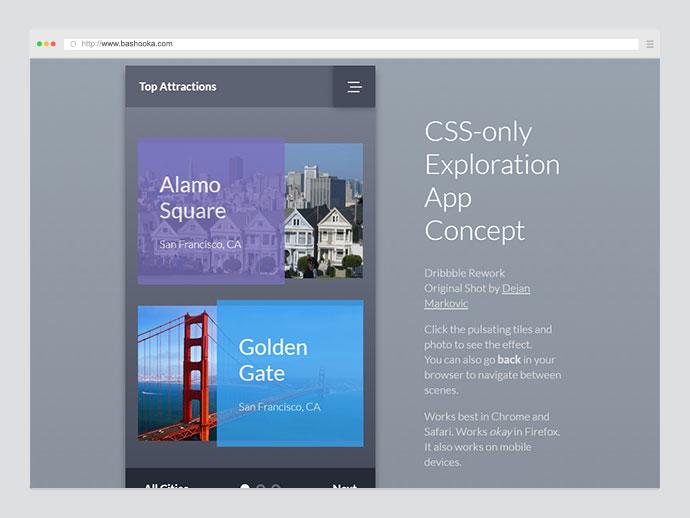CSS Exploration App Concept