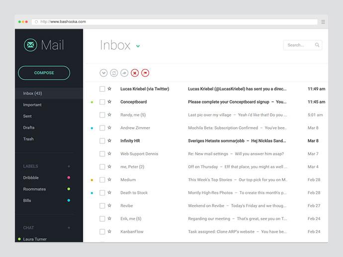 Responsive Mail UI