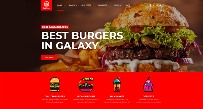 Fast Food - WordPress Fast Food Theme