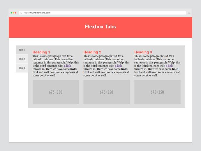 Flexbox Tabs