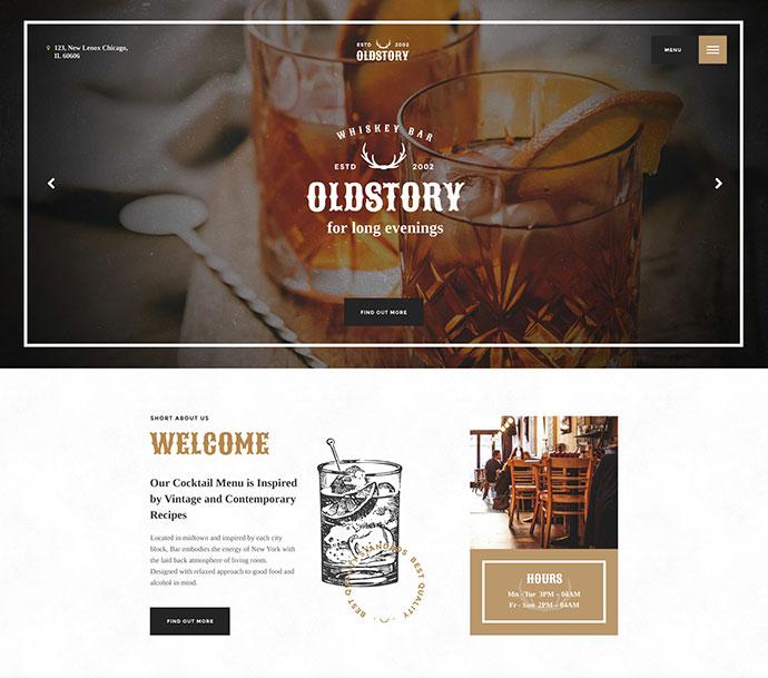 OldStory - Whisky Bar | Pub | Restaurant WP Theme