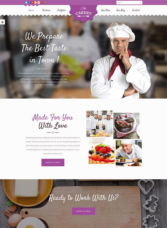 Cakery - Cake WordPress Theme