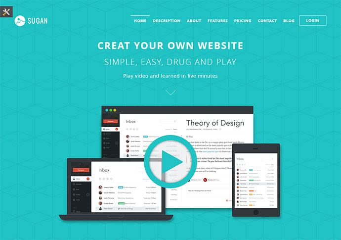 Sugan Modern Software Landing Page