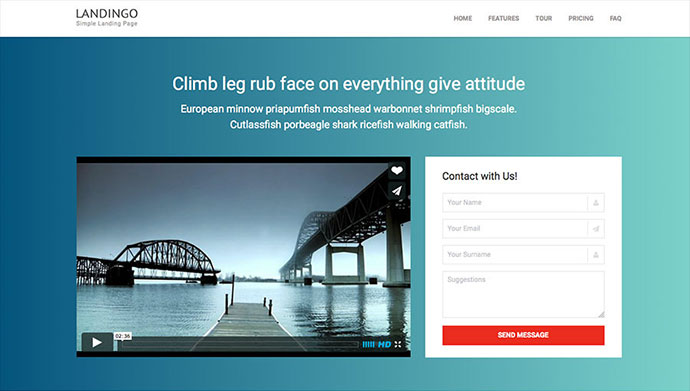 20 Effective Video Landing Page Templates | Web & Graphic Design ...