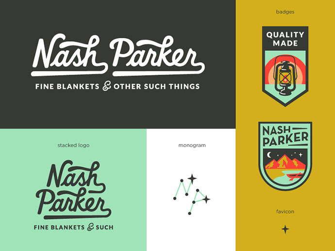 Nash Parker Blankets Final Logo System by Amy Hood