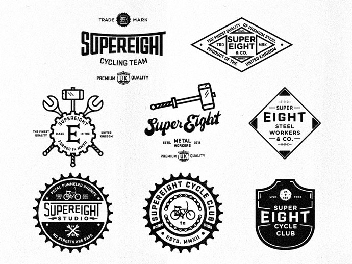 40 Excellent Typographic Logo Badge Designs – Bashooka