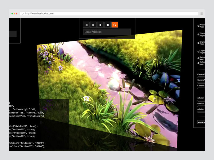 videoGL: 3D HTML5 video player with filters