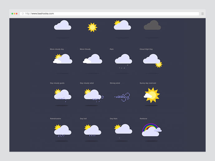 Weather SVG Animated Icons
