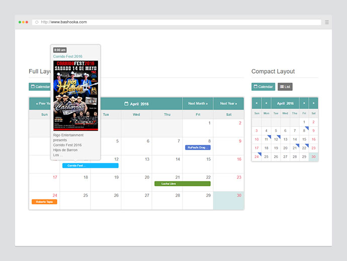10 Best Jquery Event Calendar Plugins 2016 | Web & Graphic Design