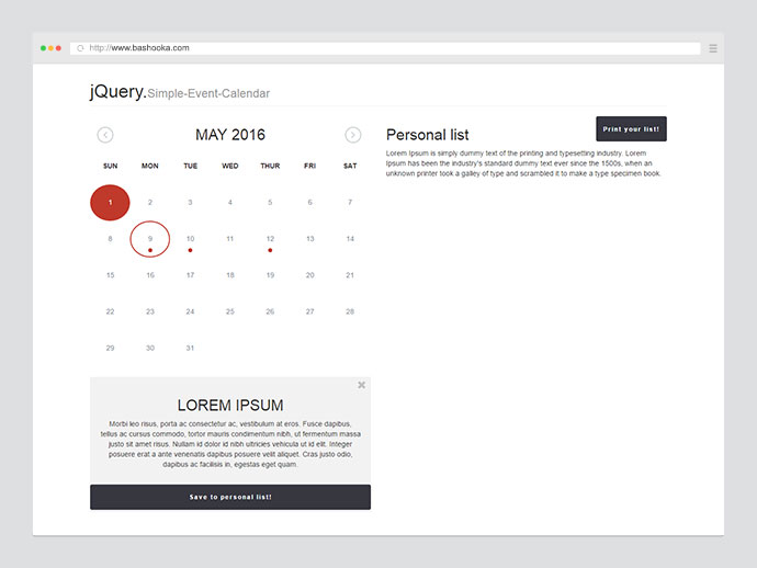 Simple-Event-Calendar