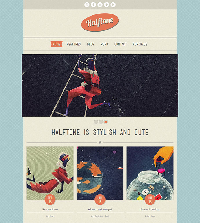 Wordpress Themes That Totally Define Retro Cool Web Graphic - Wordpress contact us page with google map