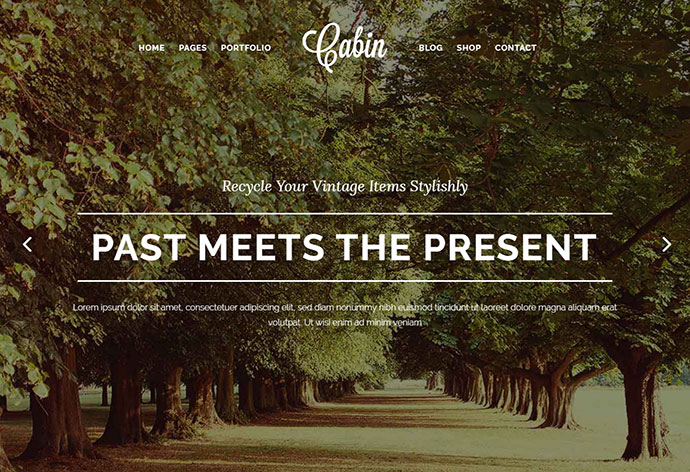 Cabin – A Beautiful Vintage-Inspired Theme