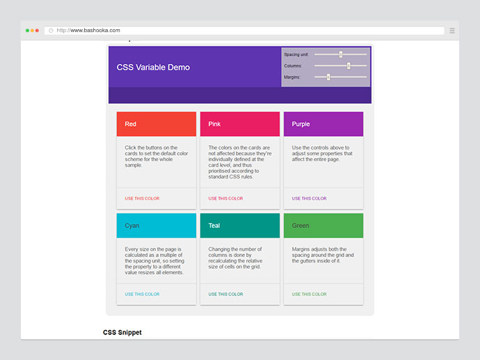 CSS custom properties