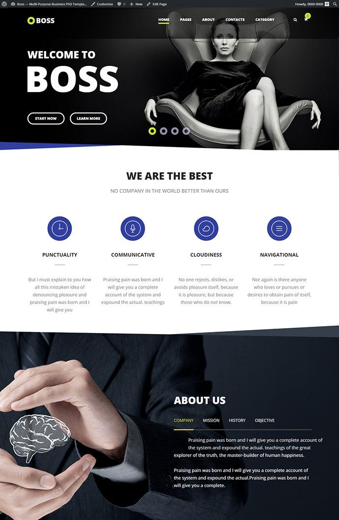 Boss — Modern Agency and Business WordPress Theme