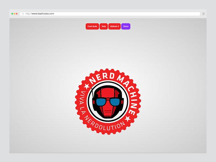Nerd Machine Logo: Animated