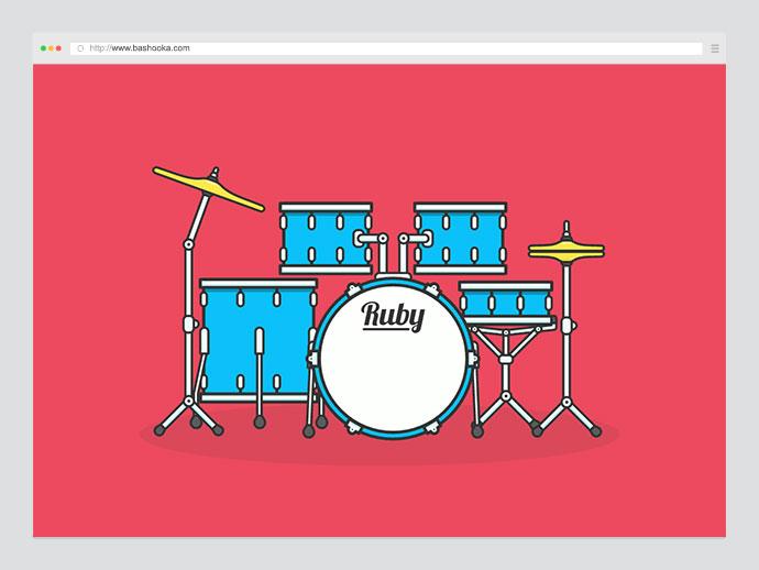 SVG Animated Drum Kit