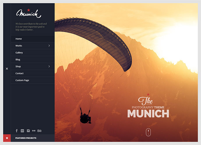 Munich Photography WordPress Theme