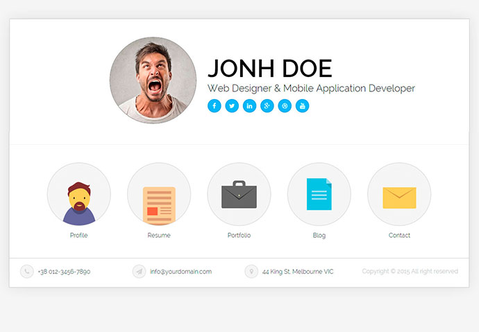 20 Best Personal VCard & Resume HTML Templates | Web & Graphic ...