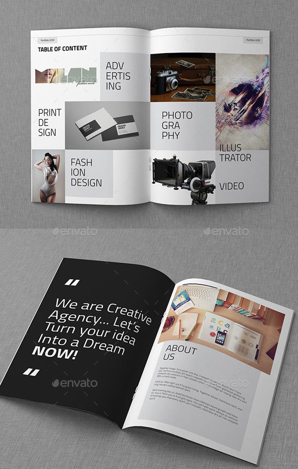 25 really awesome portfolio brochure templates  u2013 bashooka
